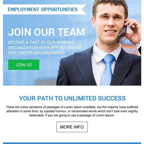 employment opportunity pay per view landing page designs