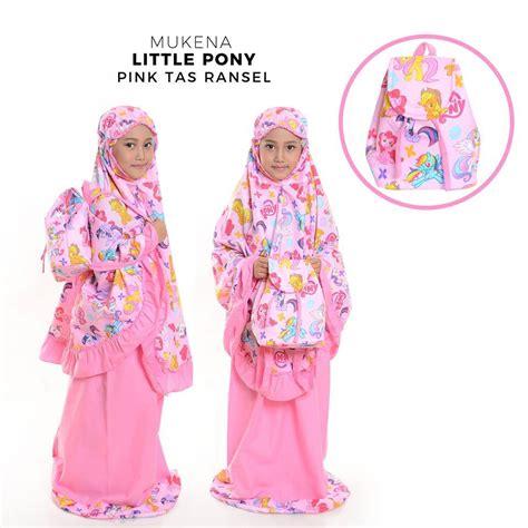 Mukena Anak Kuda Poni Warna Pink jual mukena anak pony pink tas ransel model terbaru