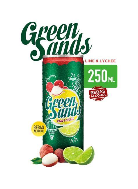 Green Sands Lime Lychee Can 250ml green sands soft drink lime lychee klg 250ml klikindomaret