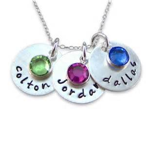 jc jewelry design three names charm with a birthstone necklace nn017 j c jewelry design