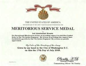 meritorious service medal citation template user profile
