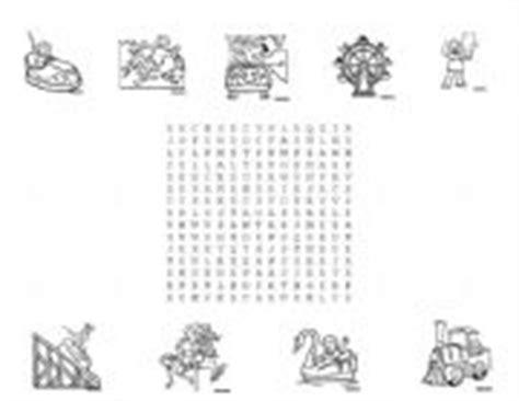 theme park offerings crossword english worksheets amusement park puzzle