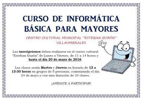 cursos en uocra 2016 curso de inform 193 tica b 193 sica para mayores villaumbrales