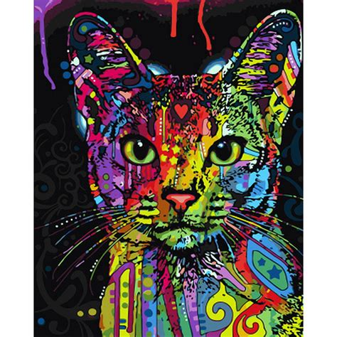 Cat Decor For The Home by Online Buy Wholesale Colorful Cat Art From China Colorful