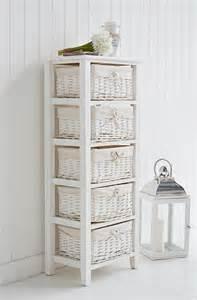 5 drawer basket tall storage unit white bathroom storage