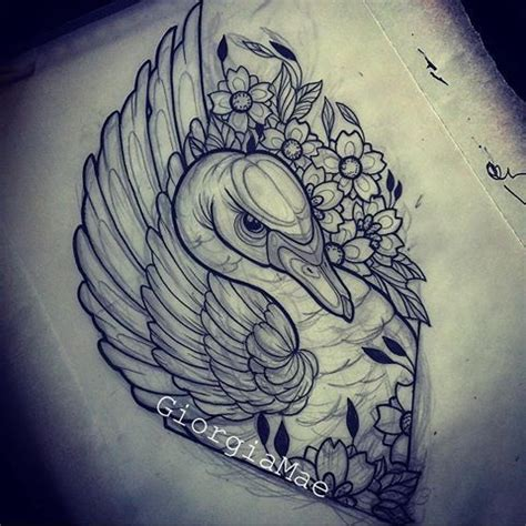 swan tattoo designs afbeeldingsresultaat voor neo traditional black swan