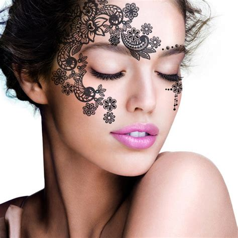 face henna tattoo 2pcs lot henna eye sticker silver sticker