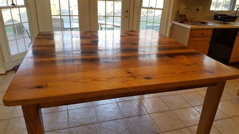 Countertop Height Table by Reclaimed Oak Table Counter Top Height Reclaimed Wood