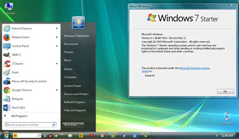 download themes for windows 7 starter free my windows 7 starter desktop update by windows7starterfan