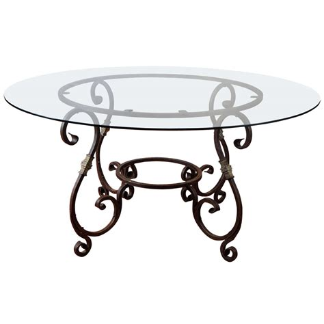 metal base dining table at 1stdibs