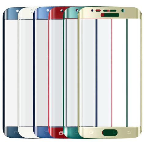 Tempered Glass For Samsung Galaxy S6 Edge Blue cover curved tempered glass screen protector for