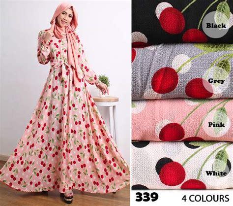 Gamis Muslim Umbrella Polka Busui Waffle Maxi Dress Klok Motif Murah gamis modern 339 crepe koshibo busana muslim cantik