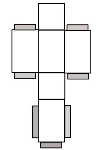 rectangular prism template the surface area of a prism explained
