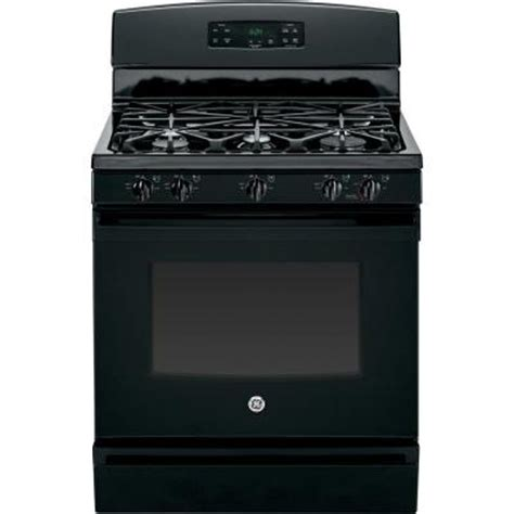 ge 4 8 cu ft gas range in black jgbs64defbb the home depot