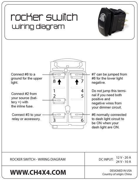 dc rocker switch wiring diagram wiring diagrams wiring