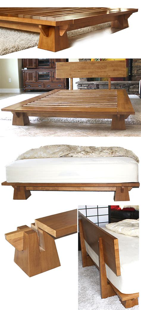Japanese Platform Bed Frame Platform Beds Low Platform Beds Japanese Solid Wood Bed