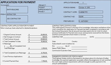 Free Construction Project Management Templates In Excel Free Application For Payment Template