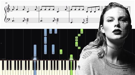 taylor swift chords getaway car taylor swift getaway car piano tutorial sheets
