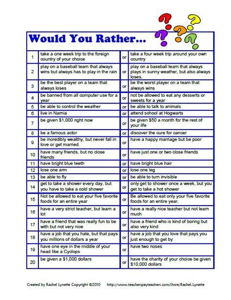 Or Question Ideas 20 Would You Rather Questions For Downloaded For