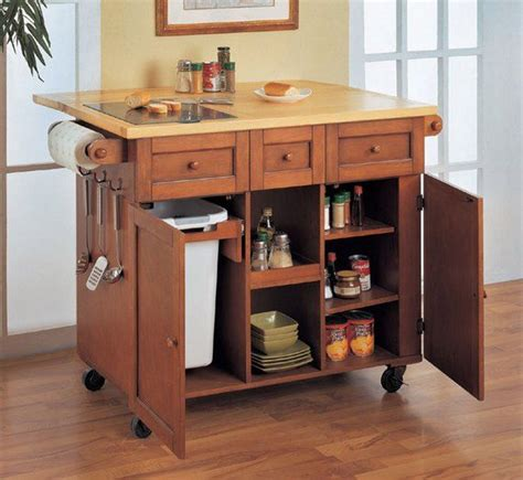 Portable Kitchen Island On Wheels Kitchen Island Cart Kitchen Island Cart Ideas