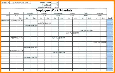 Free Staff Holiday Planner Excel Template 2015 Shift Schedule Monthly Work Employee Elegant Weekly Employee Shift Schedule Template Excel