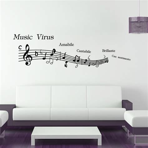 large wall decals for bedroom large size 148 42cm music wall sticker bedroom decor music