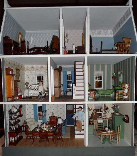 Antique Dining Room Hutch by Georgian Nana S Dollhouses And Miniatures