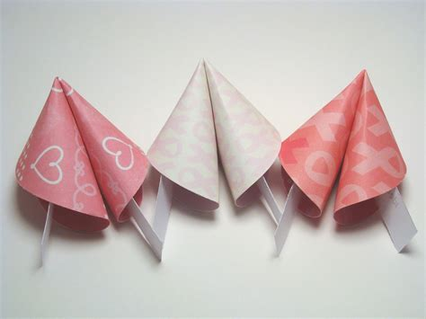 origami fortune cookie breast cancer awareness origami fortune cookies set of