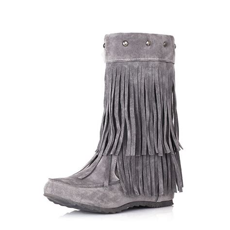 cheap fringe boots get cheap fringe moccasin boots aliexpress