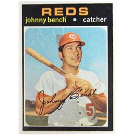 johnny bench baseball card value 1971 topps johnny bench baseball card