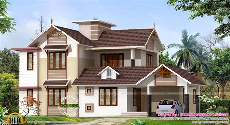 new home design 2400 sq ft new house design kerala home design and floor