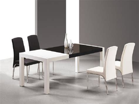 Black And White Dining Room Set by Black And White Dining Room Table Set 4 Home Ideas