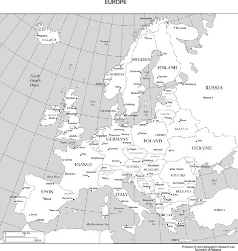 map of europe with country names black and white 4 best images of black and white printable europe map