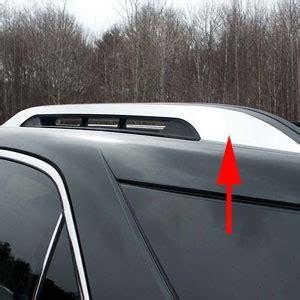 chevrolet equinox 'factory roof rack' chrome trim, 2010