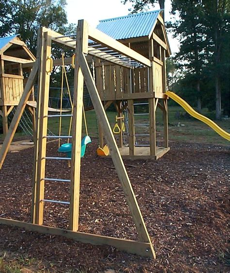 swing and slide monkey bars a custom playground with towers monkey bar swings slide