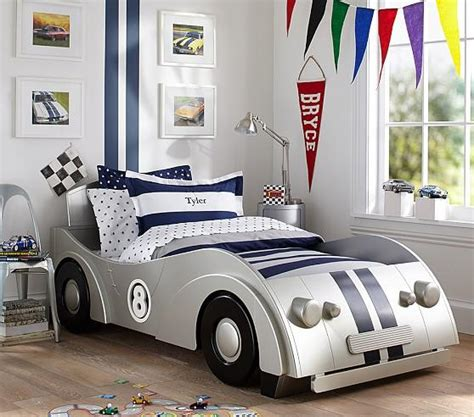 twin car beds for boys roadster silver twin bed