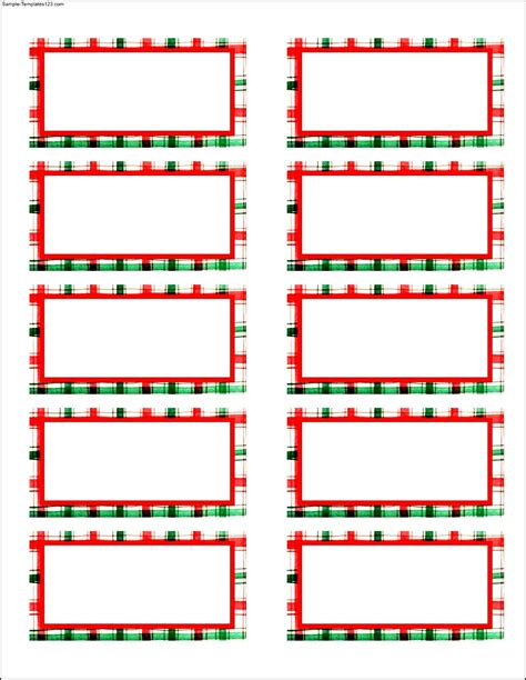 free christmas address labels templates sle templates