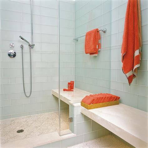 Glass Tile Bathroom Ideas how the heck do you clean a glass shower door