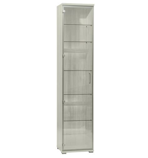 Tall Glass Display Cabinet   White