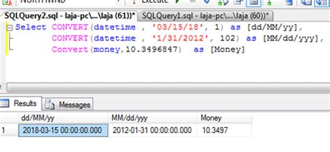 sql date format conversion functions using sql query in sql server