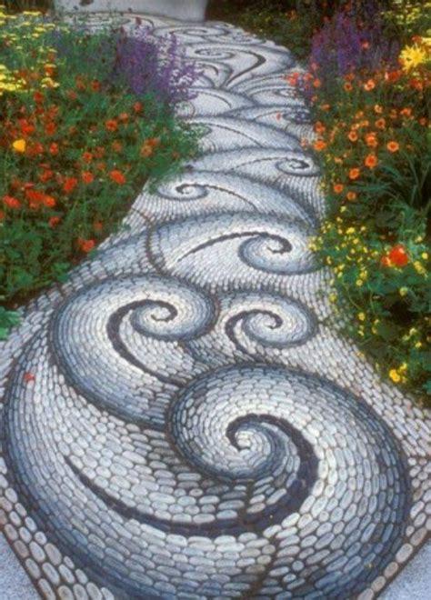 mosaik im garten mosaik im garten allee wellenmuster grau wei 223 und blau