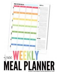 the room diet planner weekly meal planner plan a week s meals free printable