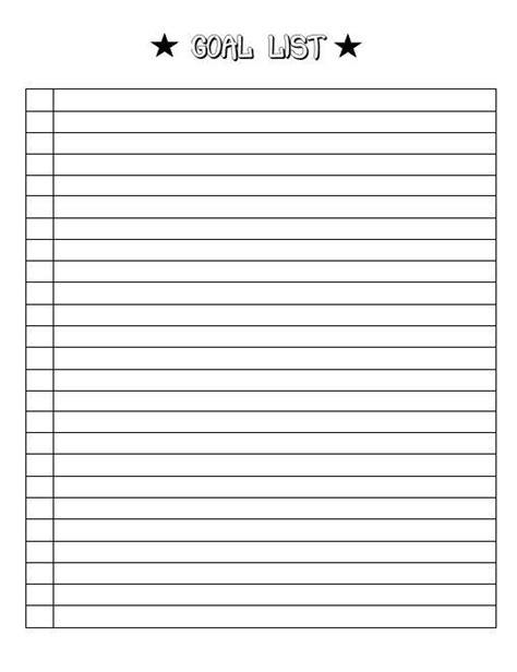 Goal Template Goal List Goal Sheet Goal By Christinedigitalpics Color Me Happy Pinterest Goal List Template