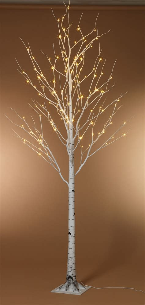 Led Lighted Tree 8 Foot Led Lighted Birch Tree Warm White