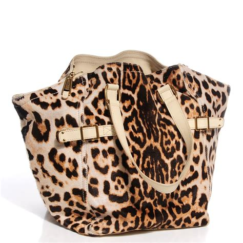 Yves Laurent Downtown Leopard Print Media Tote by Yves Laurent Leopard Print Pony Hair Medium Downtown