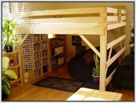lofted bed frames bed loft frame 1000 ideas about loft beds on