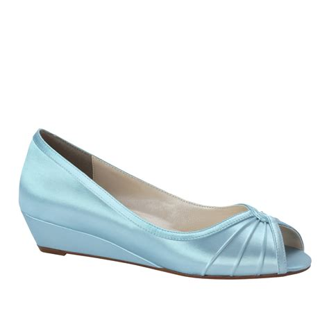 Wedding Shoes Wedges by Bridal Shoes Low Wedge Heel Www Imgkid The Image