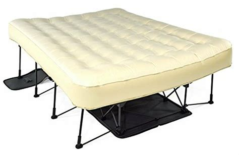 ivation ez bed queen air mattress  frame rolling
