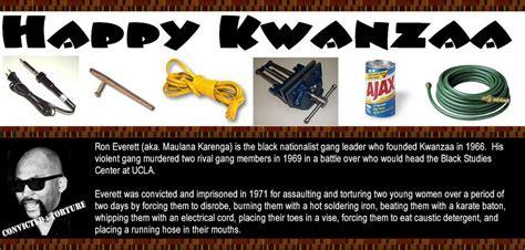 Maulana Karenga Criminal Record Happy Kwanzaa