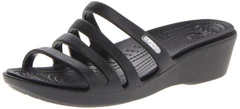 Promo Diskon Jual Sendal Shoes Wedges Heels Sendal Sepatu Flatshoes crocs at walmart crocs s rhonda wedge heels sandals black black black shoes gibbitz for